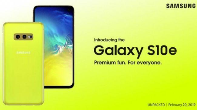 Samsung Galaxy S10E teaser