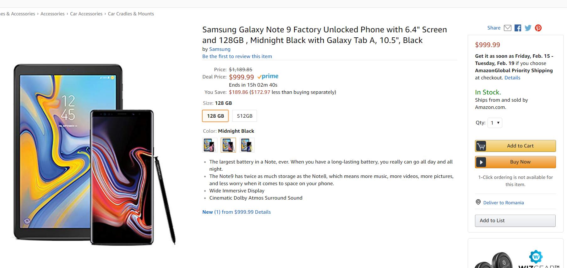 Samsung Galaxy note 9 tableta gratuita oferta