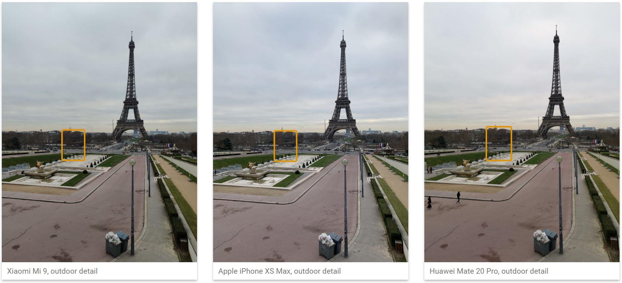 Xiaomi Mi 9 camera iphone xs max poze comparatie