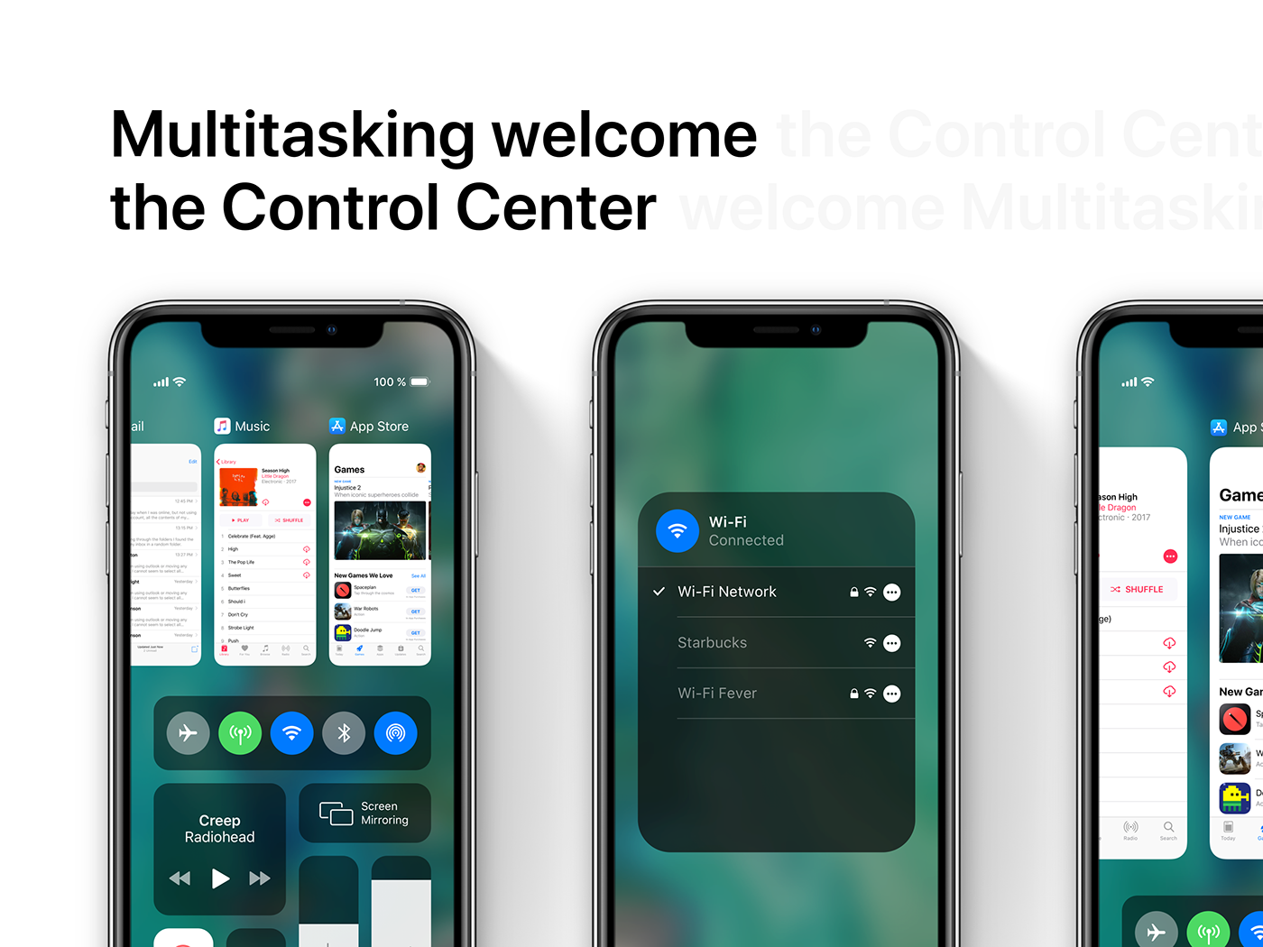 iOS 13 concept control center