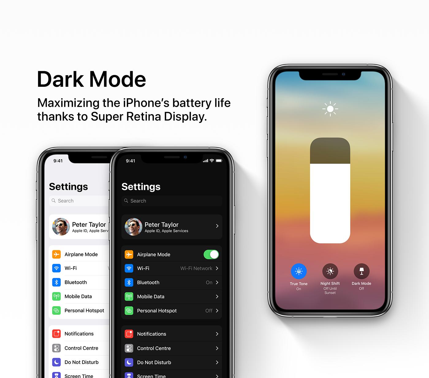 iOS 13 concept dar mode