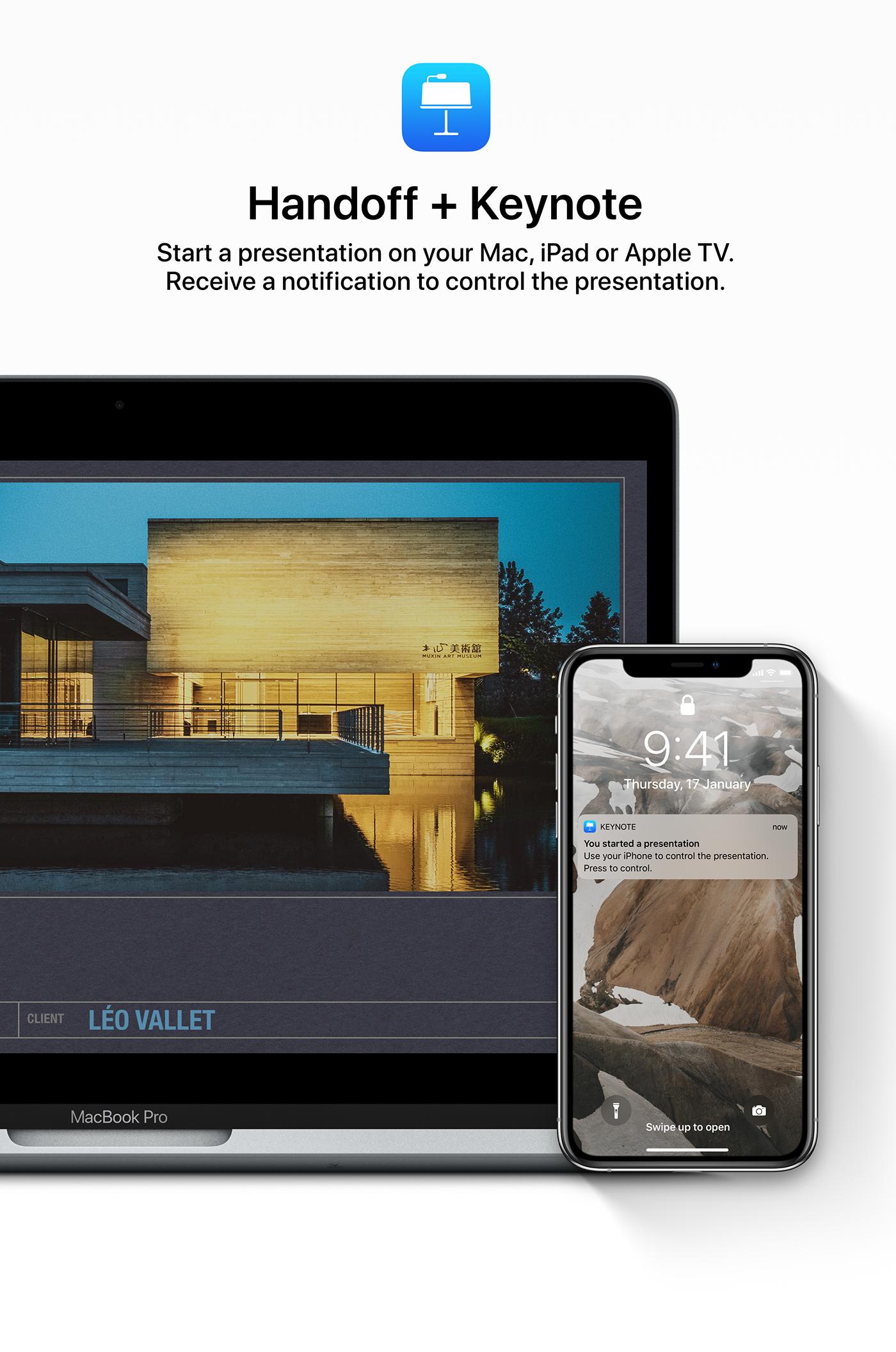 iOS 13 concept handoff