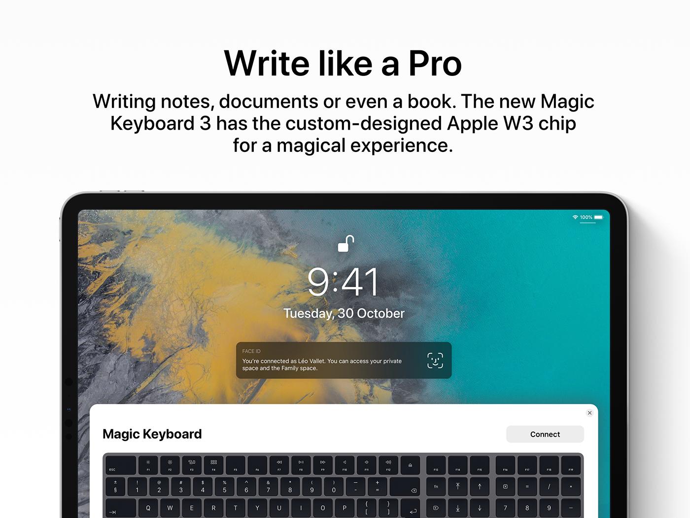 iOS 13 concept iPad pro
