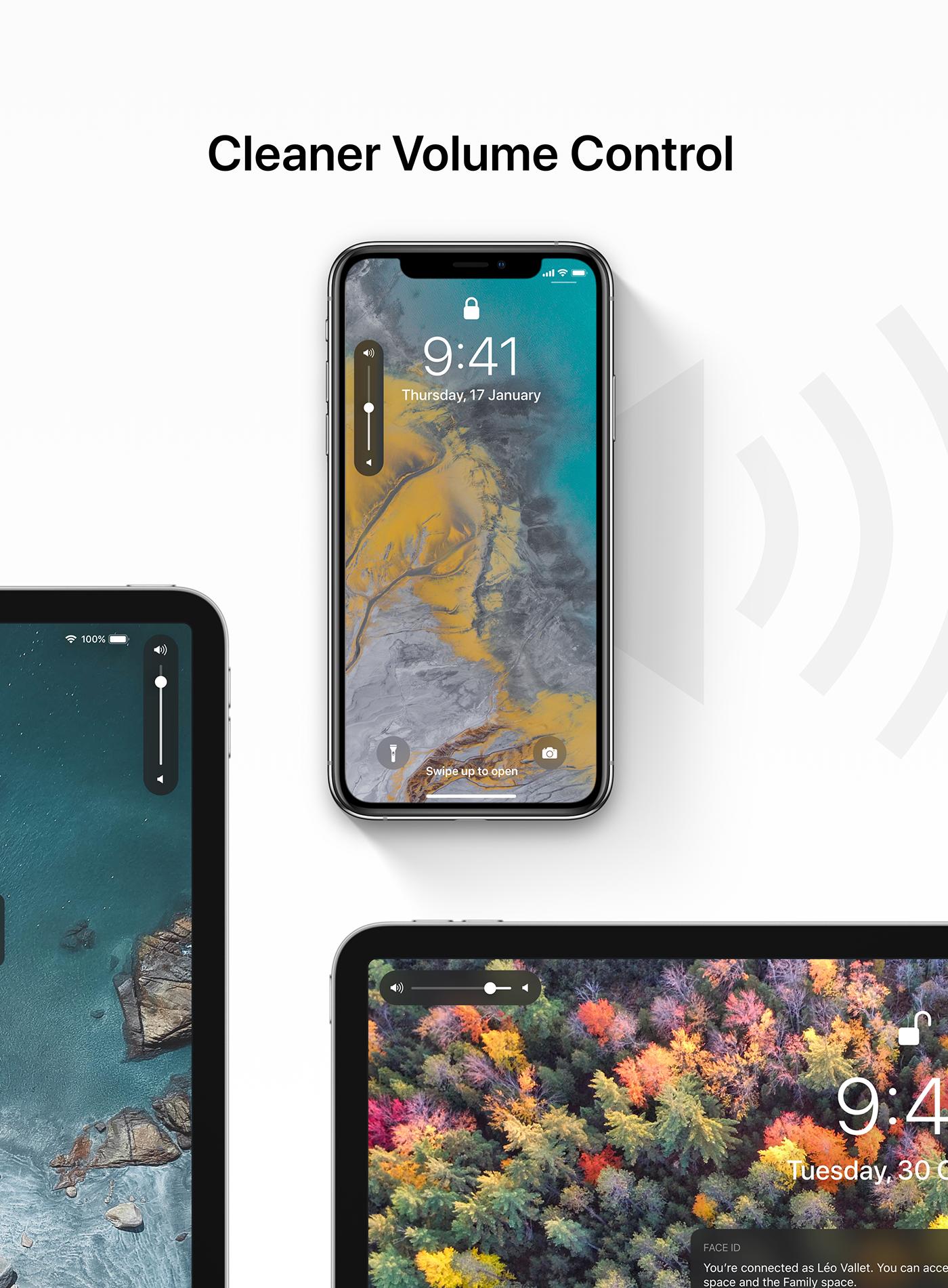 iOS 13 concept volum