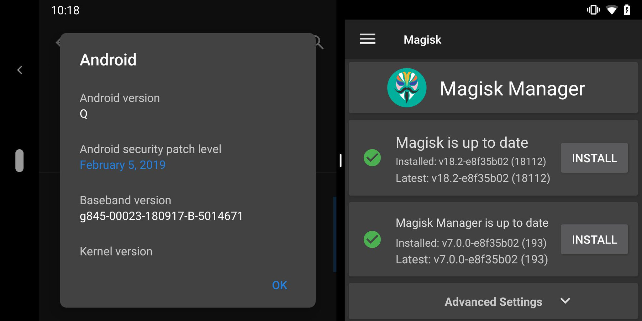 Android 10 root Magisk