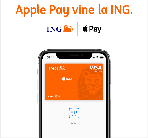 Apple Pay ING romania iphone