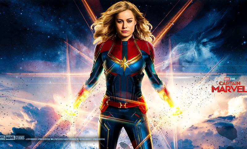 Captain Marvel Brie Larson apple