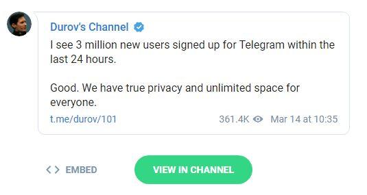 Facebook pierdut utilizatori Telegram