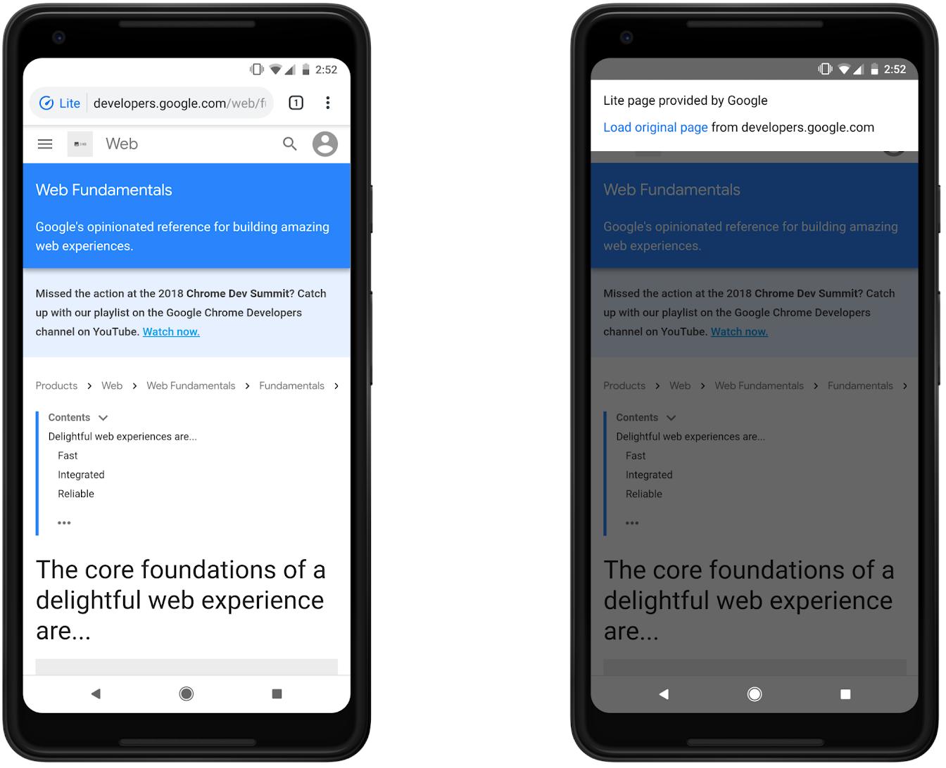 Google Chrome data saver android