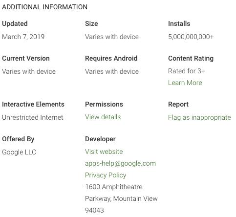 Google aplicatie 5 miliarde