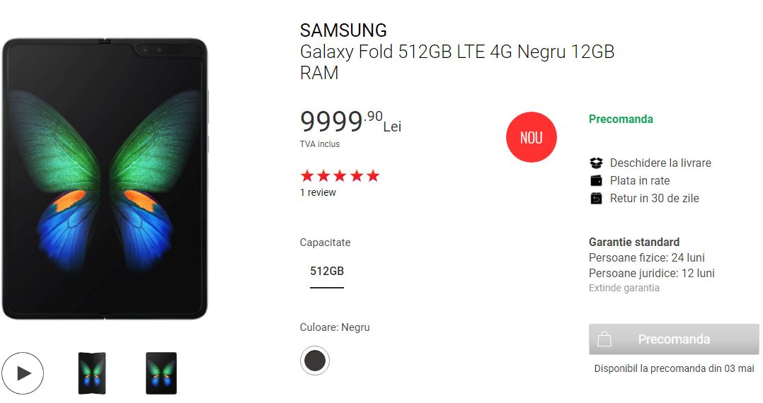 Samsung GALAXY FOLD costa pret romania precomanda