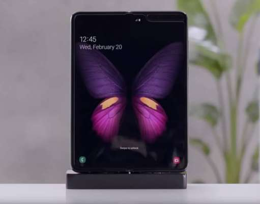 Samsung GALAXY FOLD ecran video