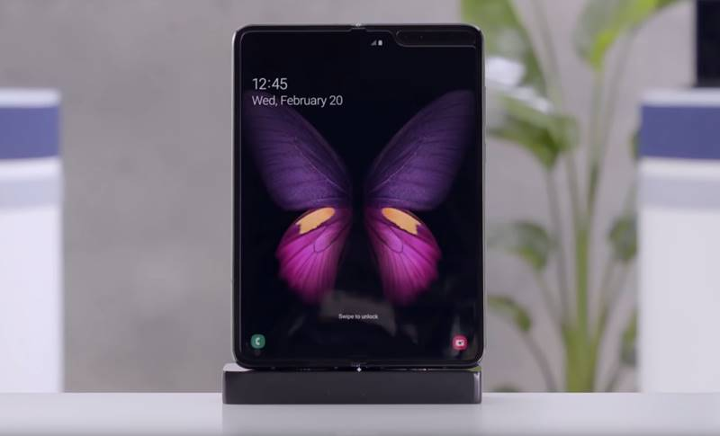 Samsung GALAXY FOLD ecran video