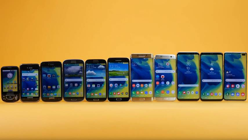 Samsung GALAXY S10 evolutie