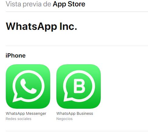 WhatsApp business iphone