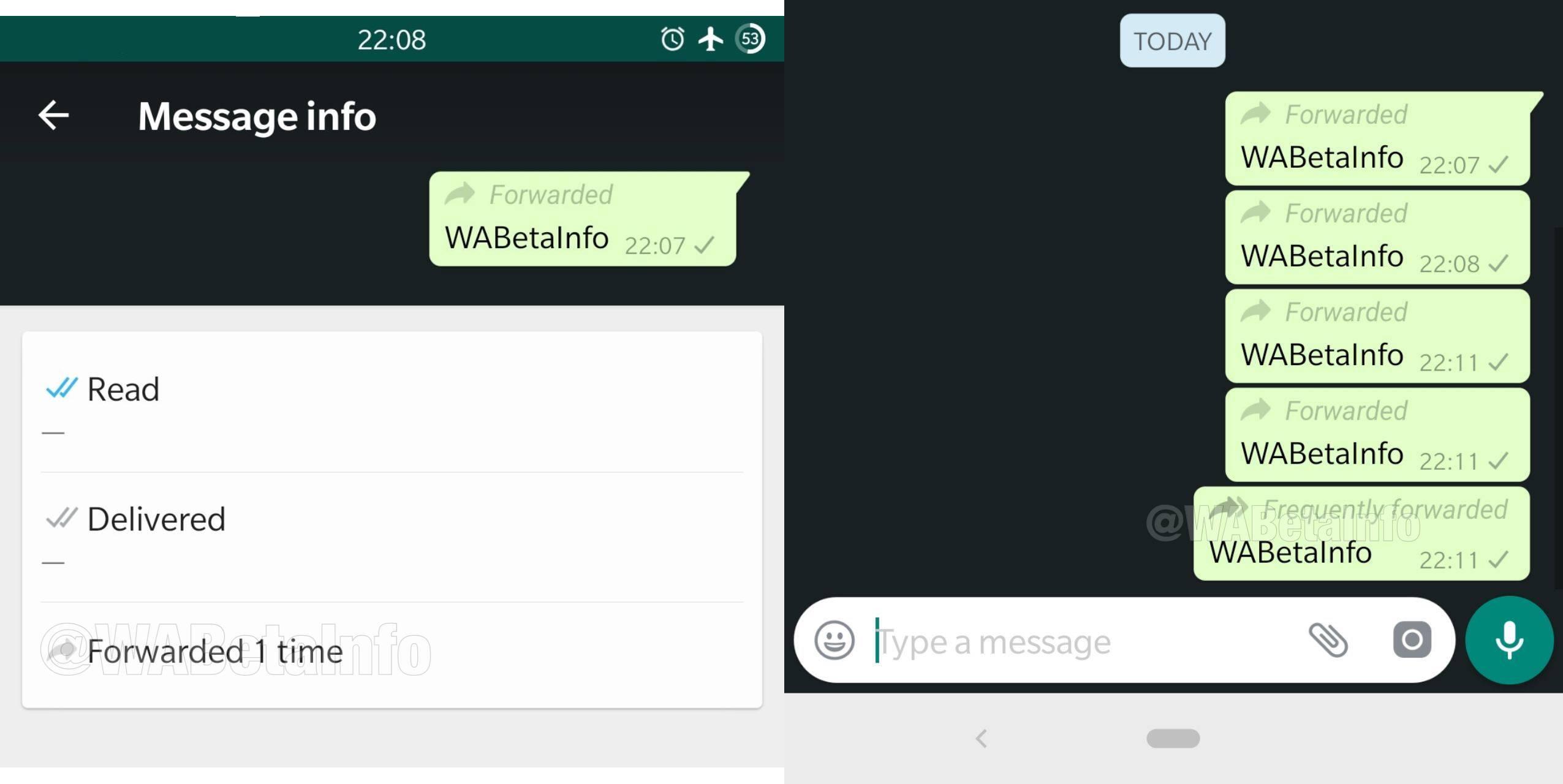WhatsApp retrimitere mesaje