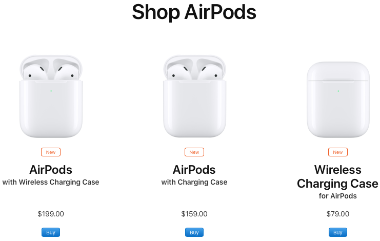 airpods 2019 incarcare wireless