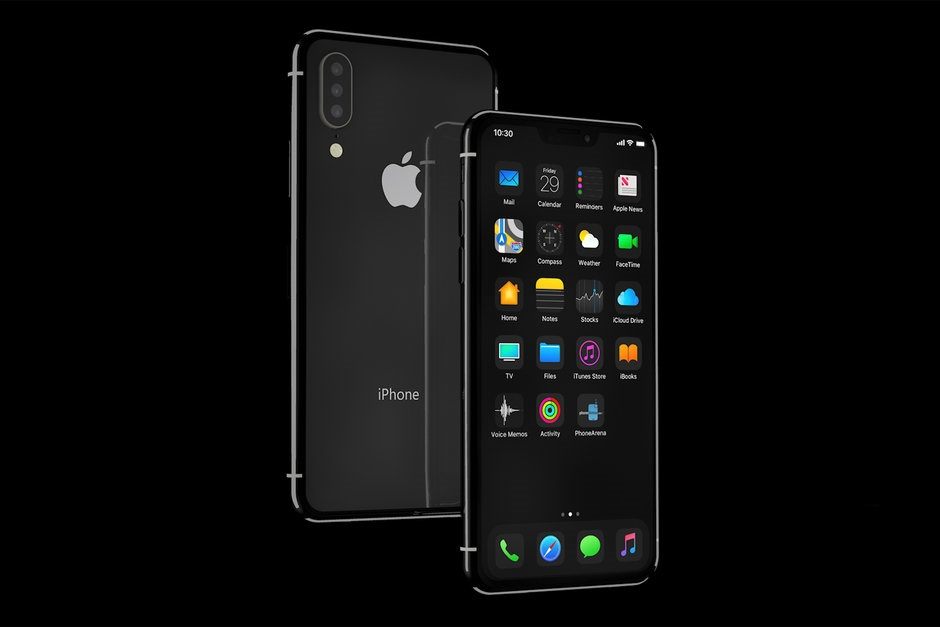 iPhone 11 ios 13 dark mode concept