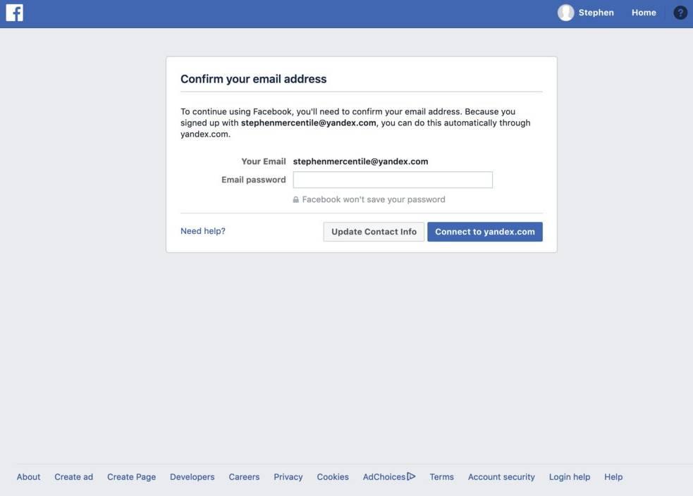 Facebook parola email 1