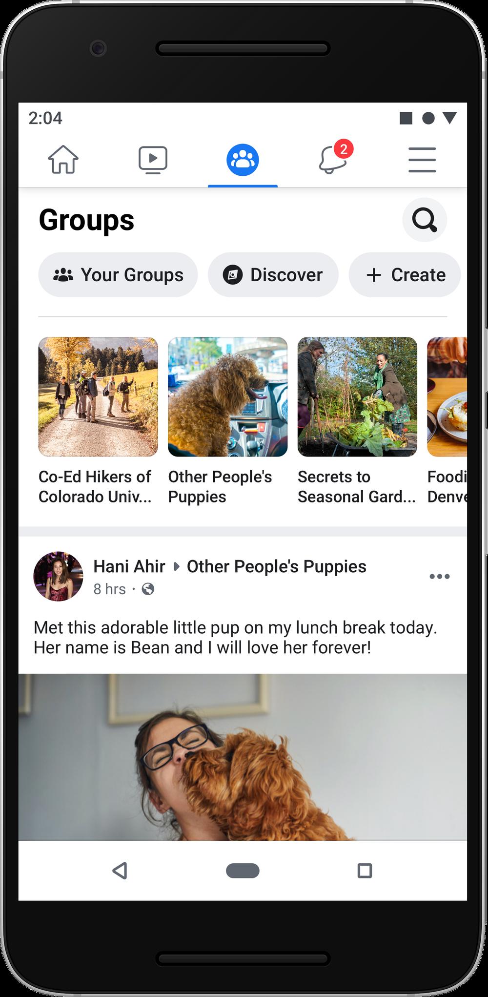 Facebook redesign grupuri