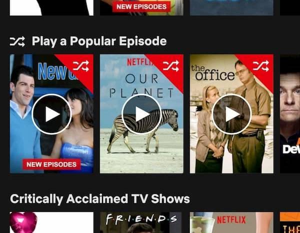 Netflix episoade aleatorii