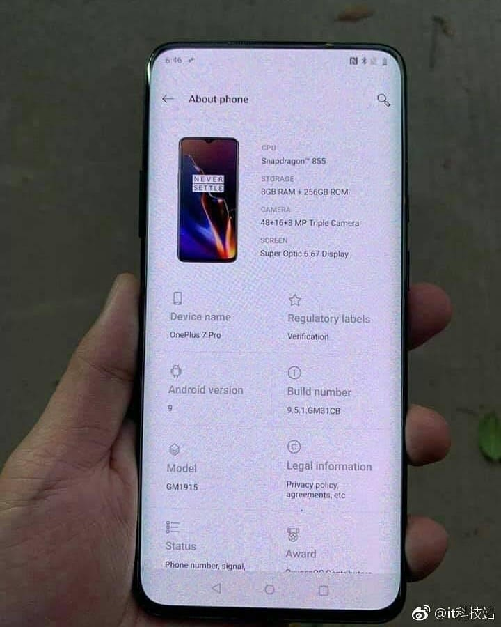OnePlus 7 Pro specificatii