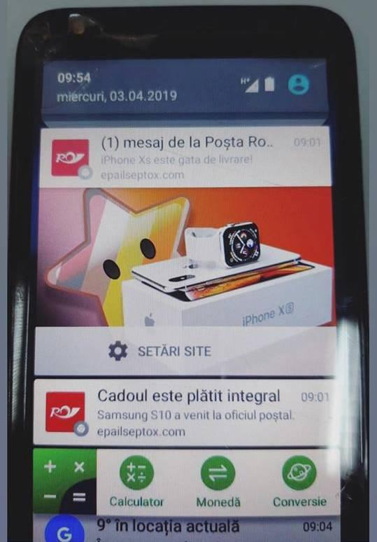 Posta Romana teapa iphone xs samsung s10
