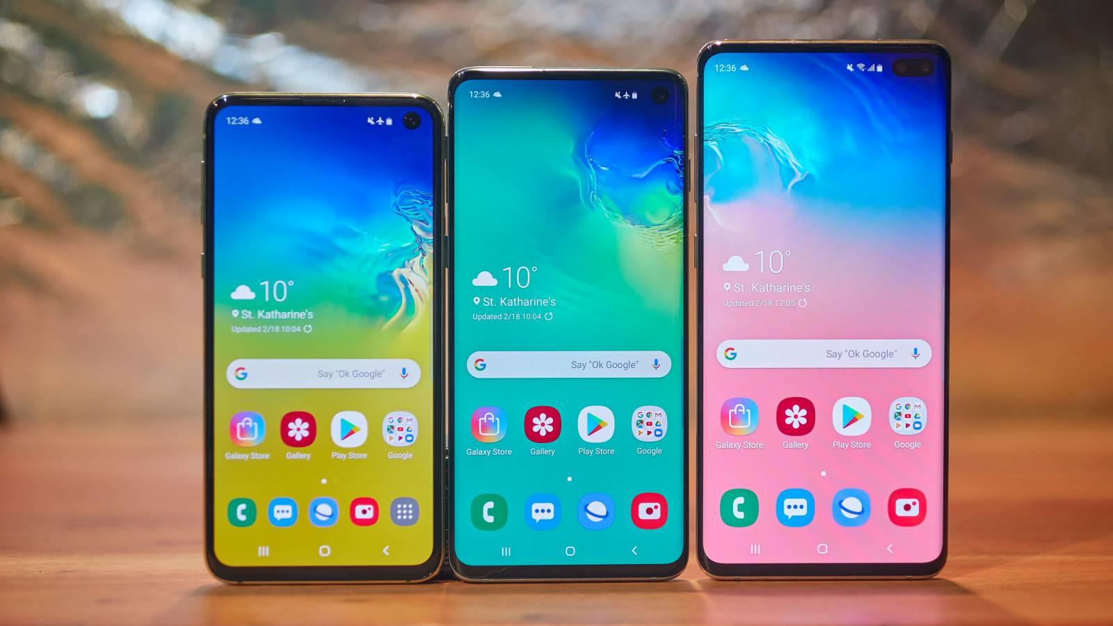 Samsung GALAXY S10 diferente