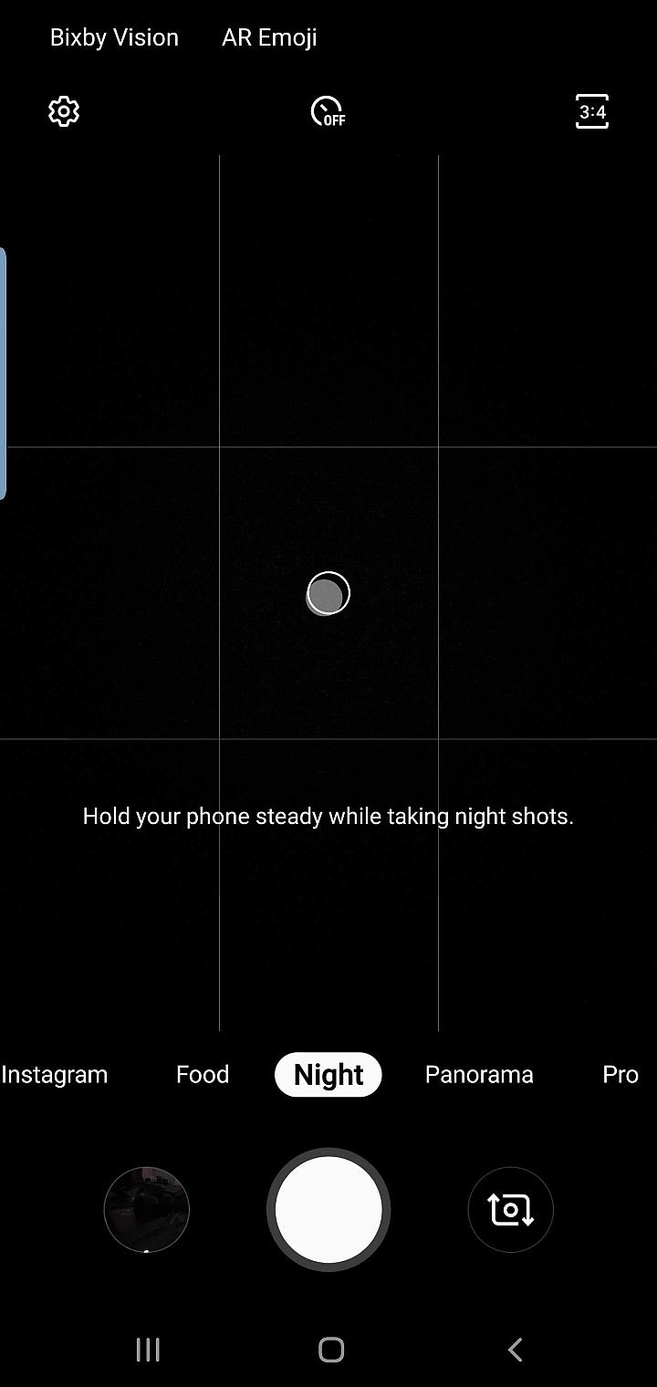 Samsung GALAXY S10 night camera