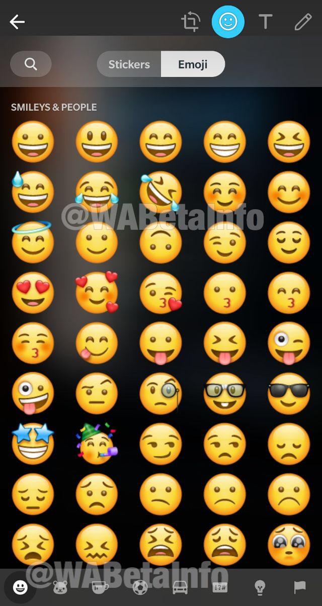 WhatsApp functii emoji sticker ios