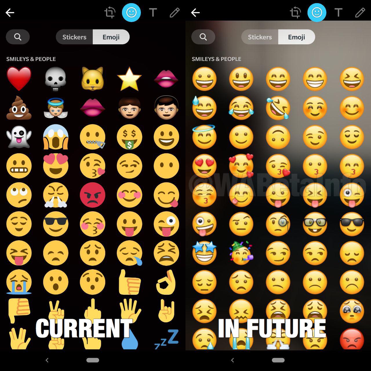 WhatsApp neprevazut emoji