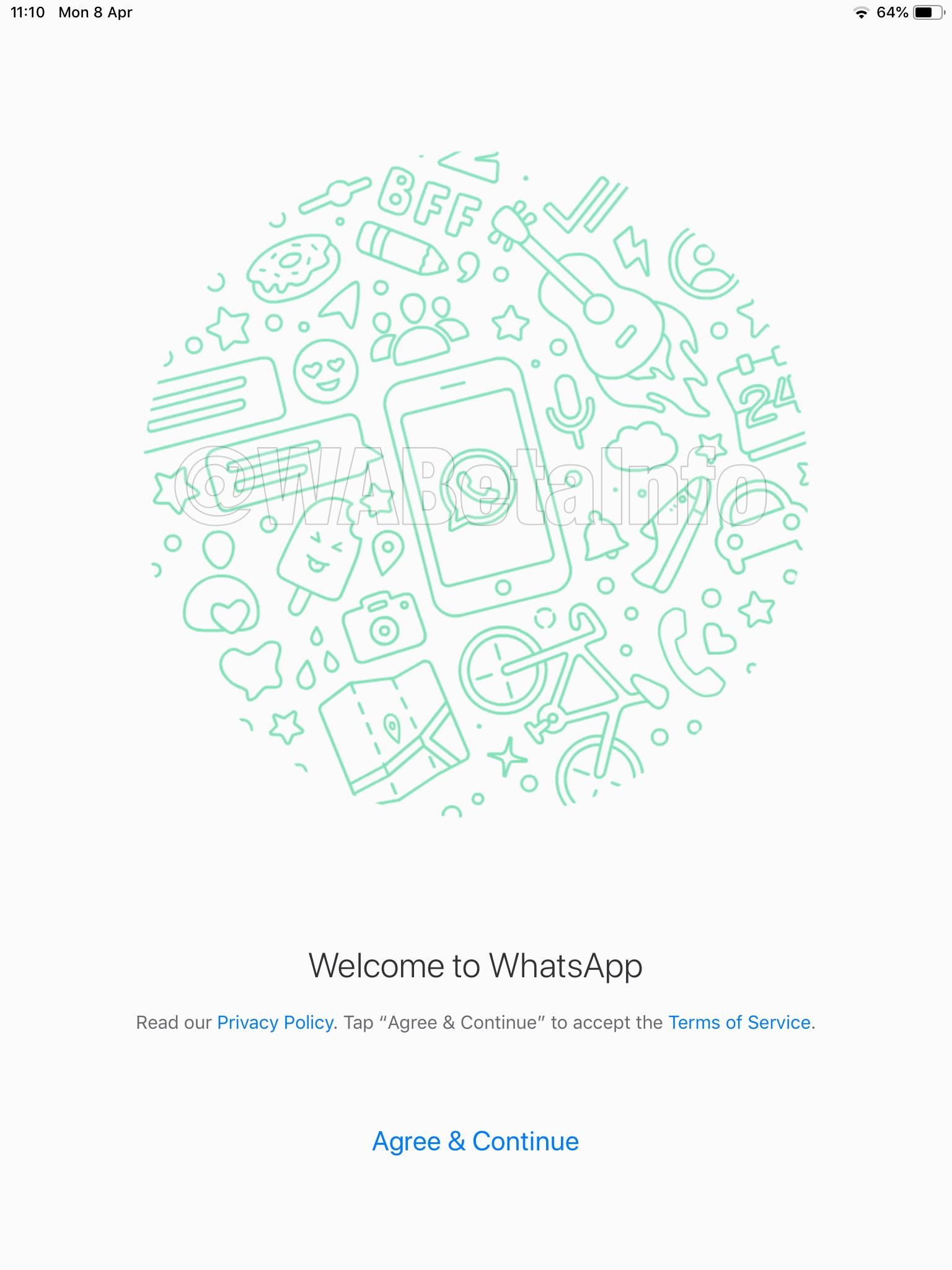 whatsapp ios ipad login