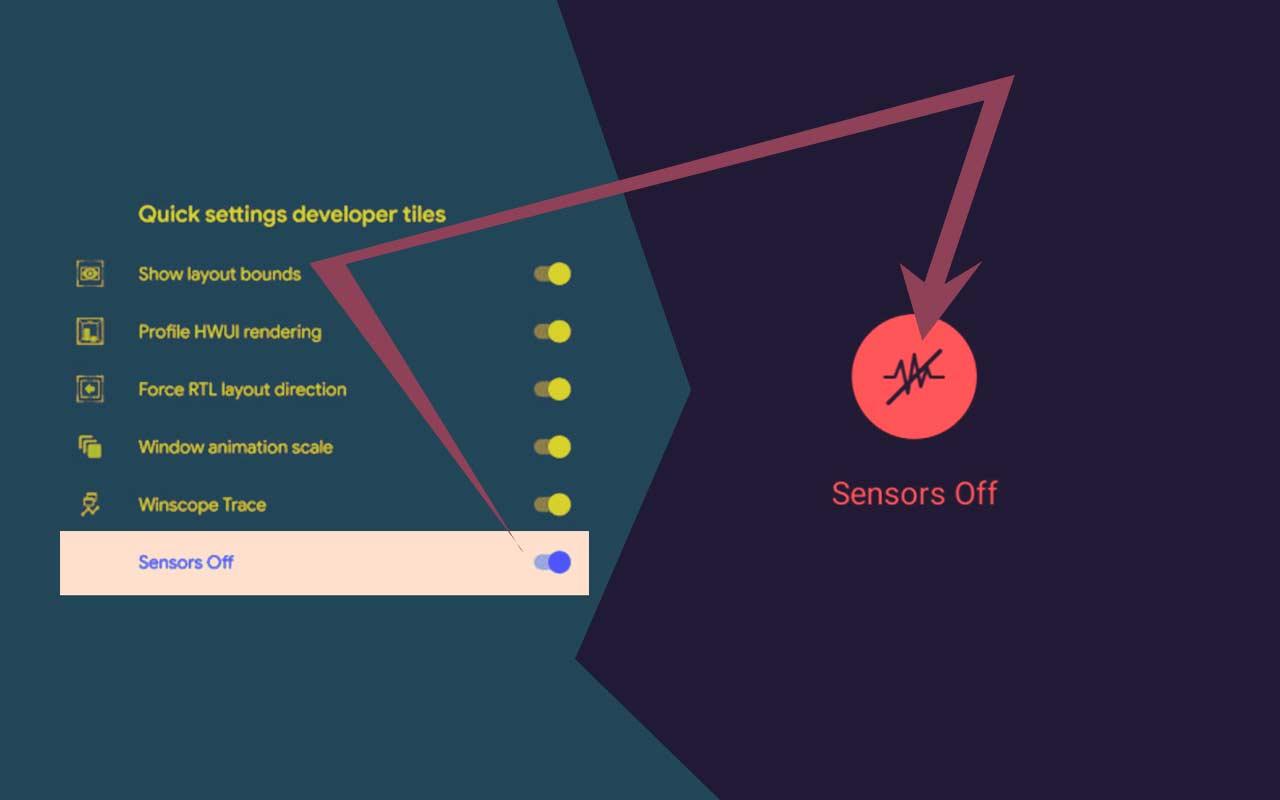 Android 10 senzori dezactivare