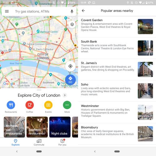 Google Maps cartiere recomandate