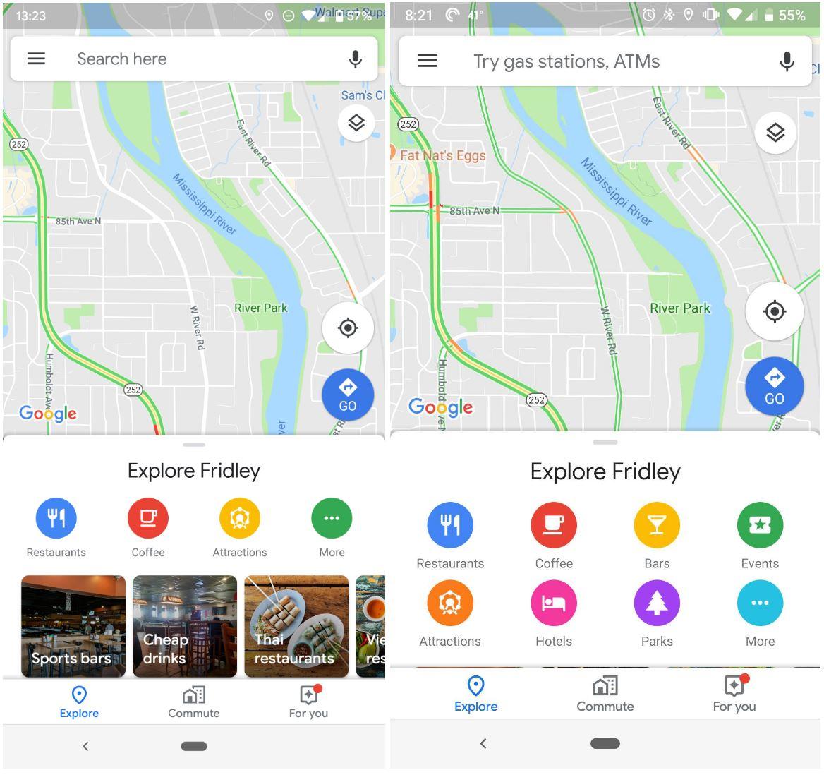 Google Maps explore iconite