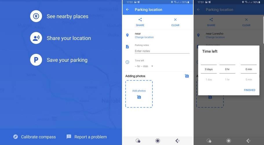 Google Maps parcare salvare