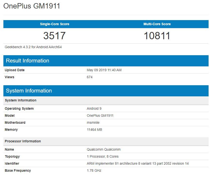 Huawei P30 PRO performante oneplus 7 pro