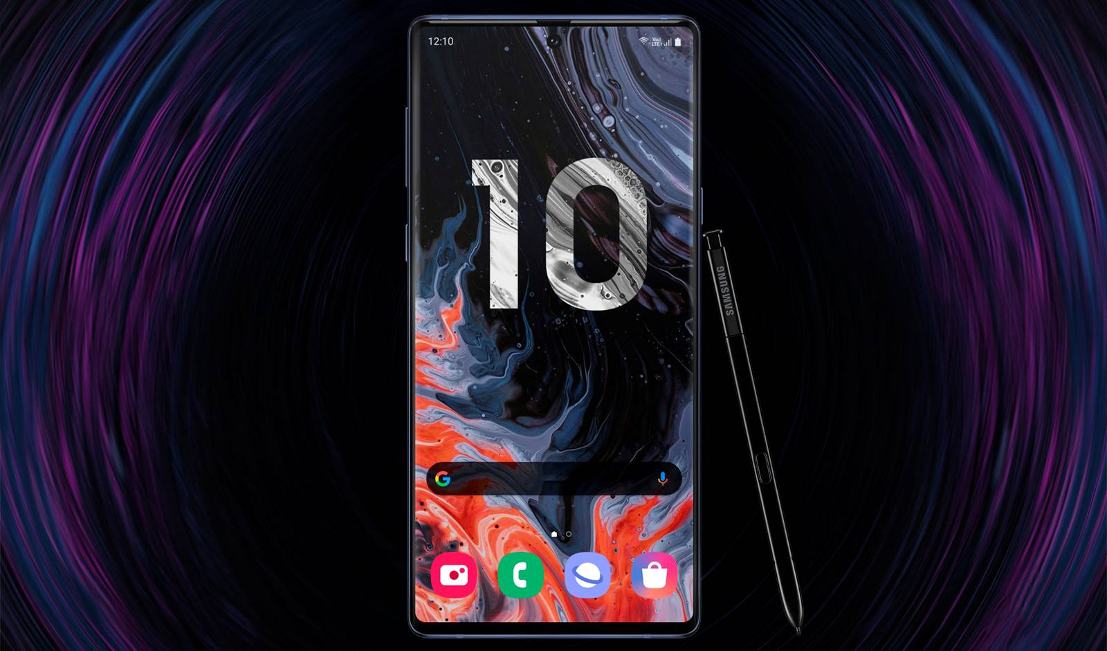 Samsung GALAXY NOTE 10 ecran aspect