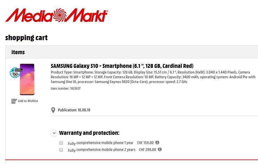 Samsung GALAXY S10 cardinal red lansare