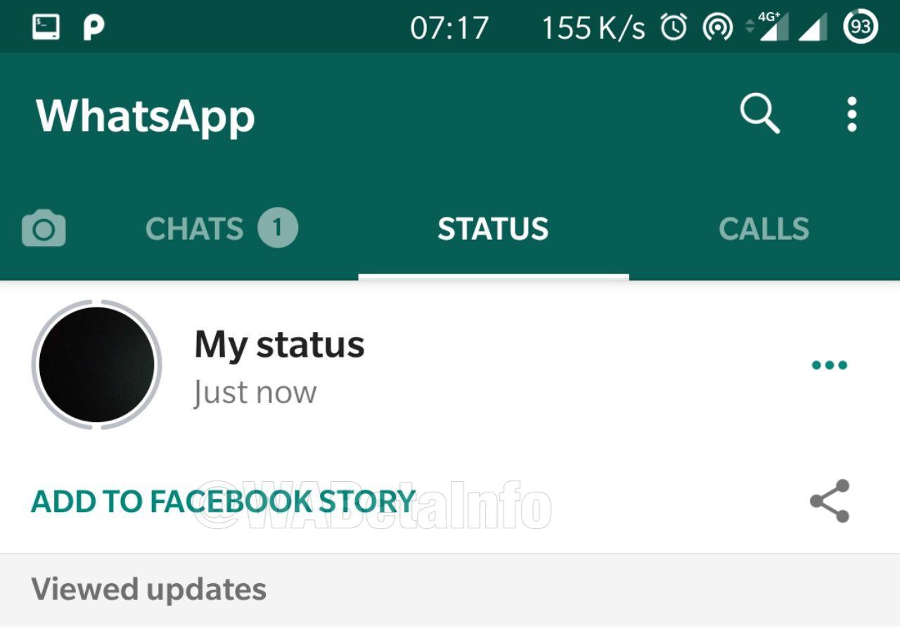 WhatsApp stories facebook