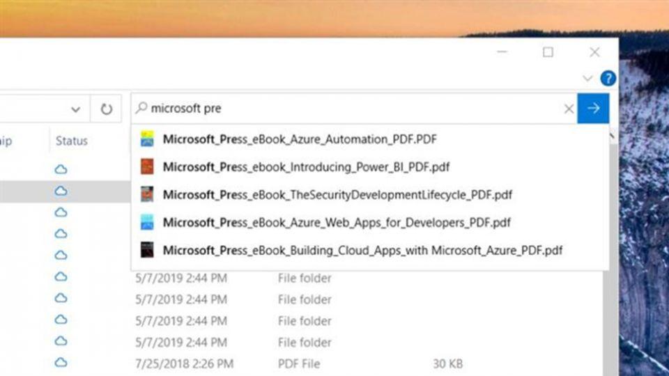 Windows 10 cautari File Explorer