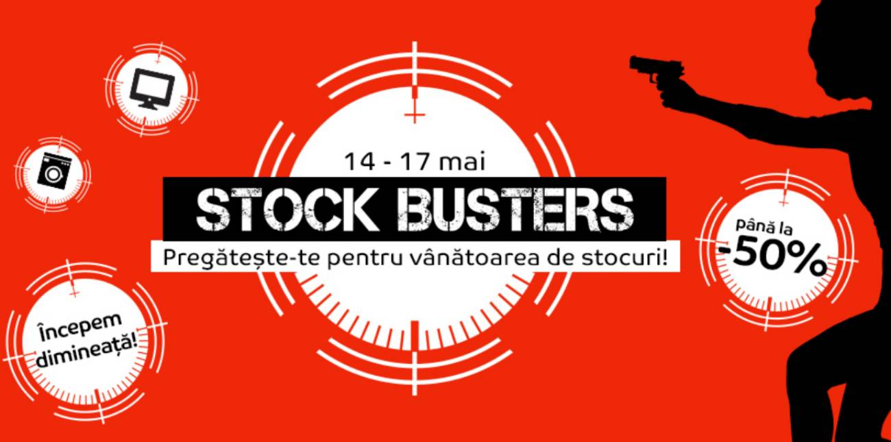 eMAG Stock Busters REDUCERI mai