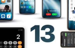 iOS 13 concept apple