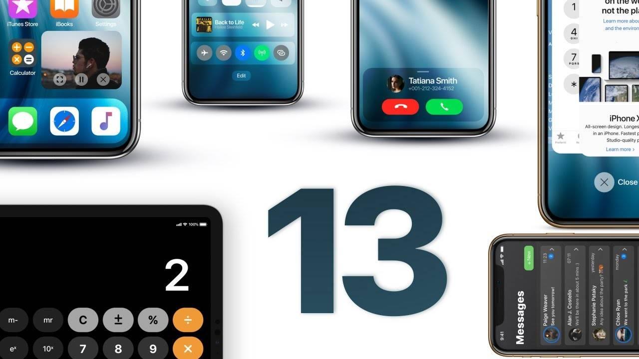 iOS 13 concept apple