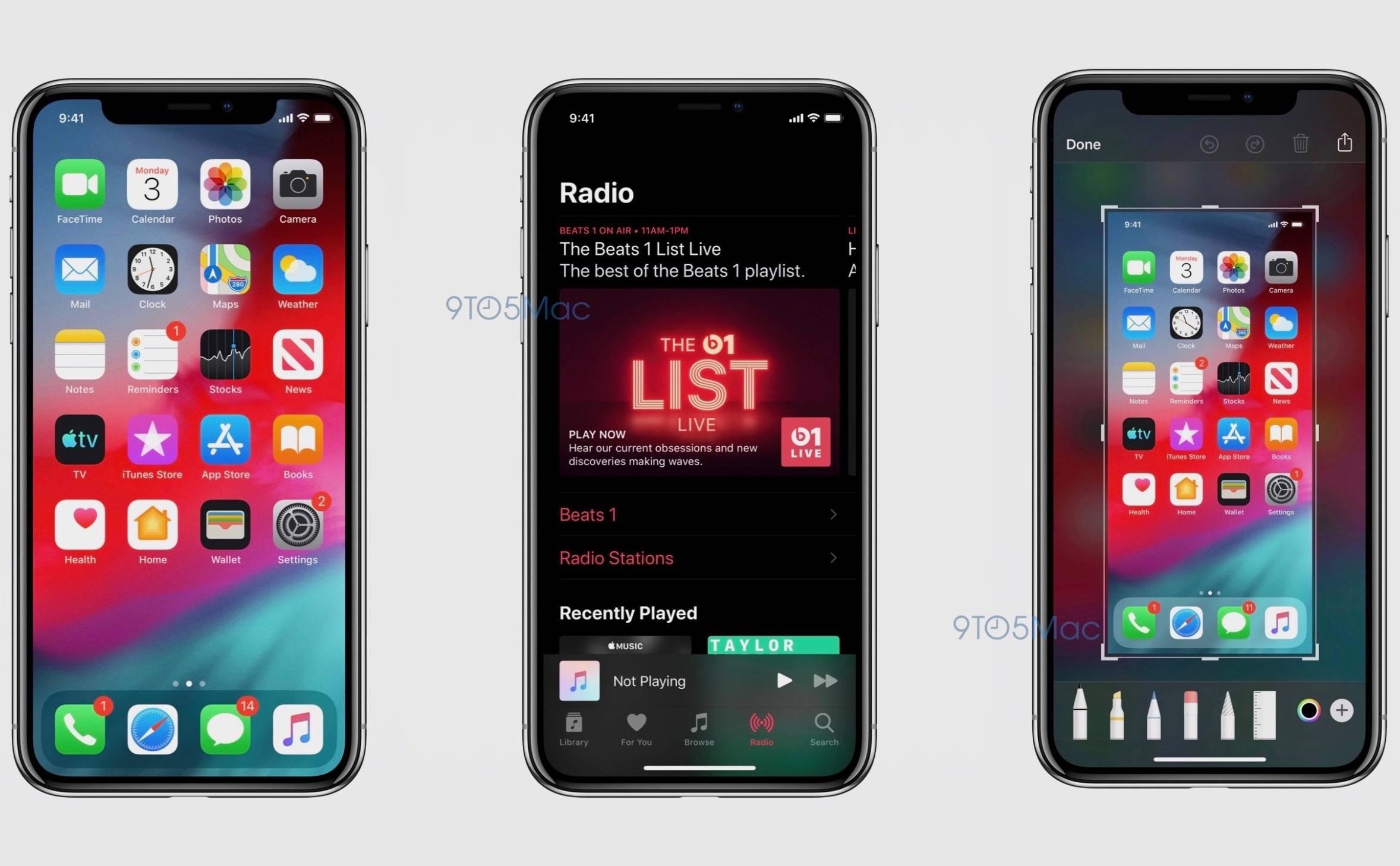 iOS 13 imagini dark mode aplicatii
