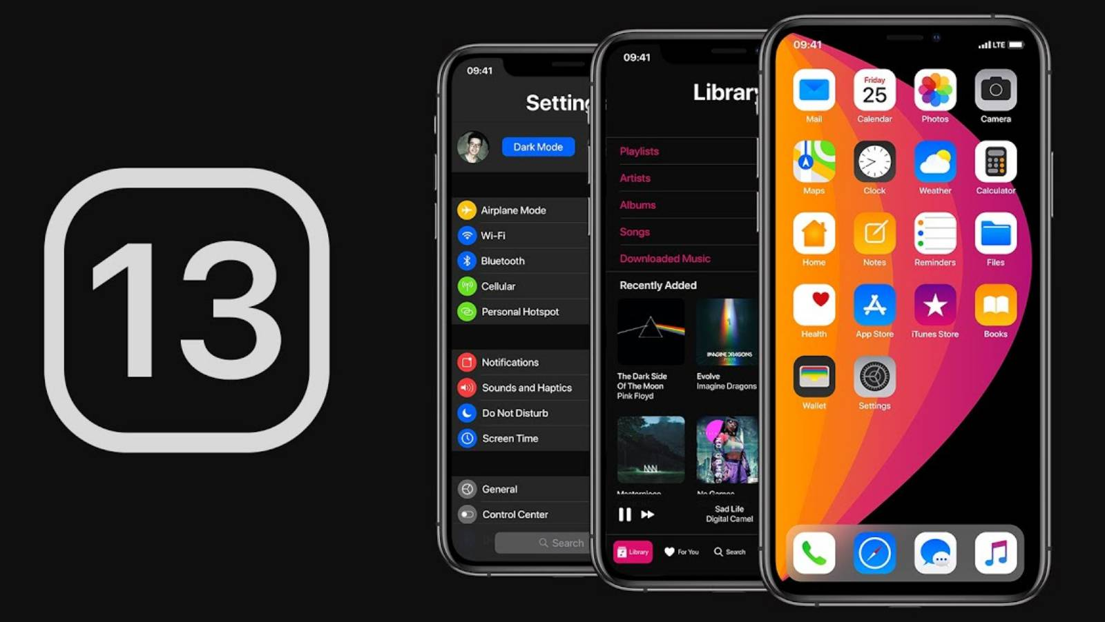iOS 13 noutati dark mode
