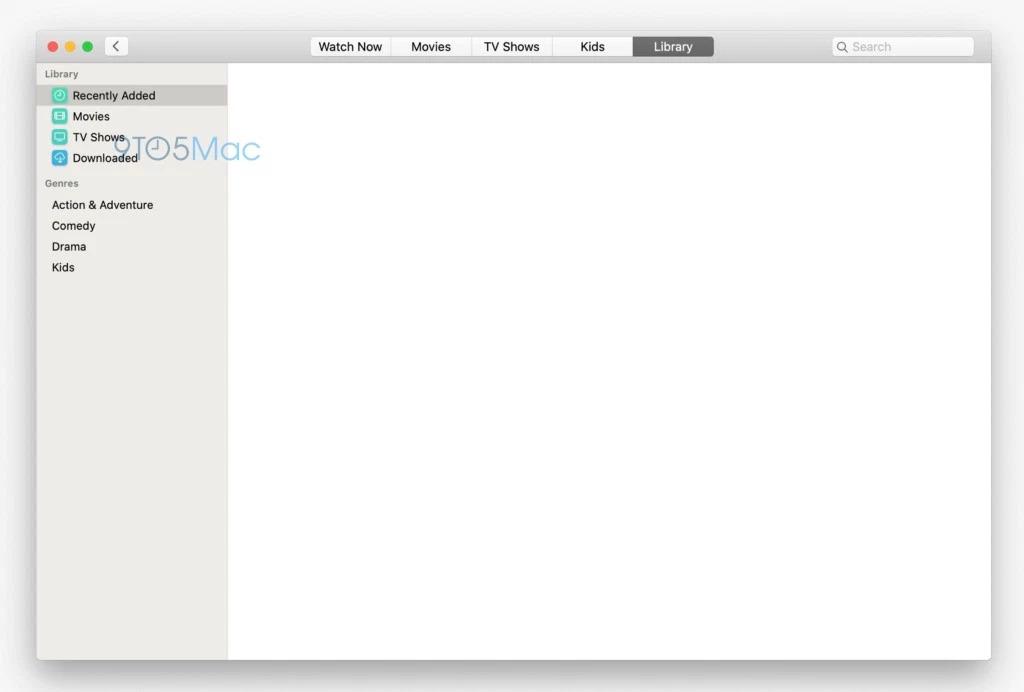 macos 10.15 aplicatie tv