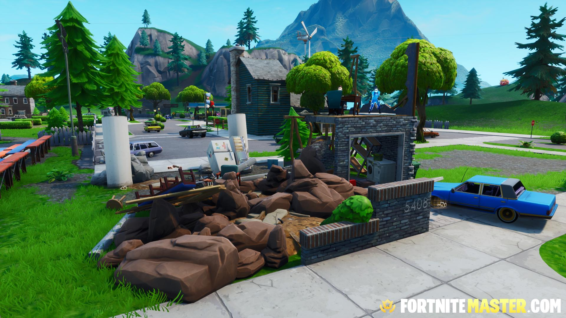 Fortnite neasteptat casa distrusa
