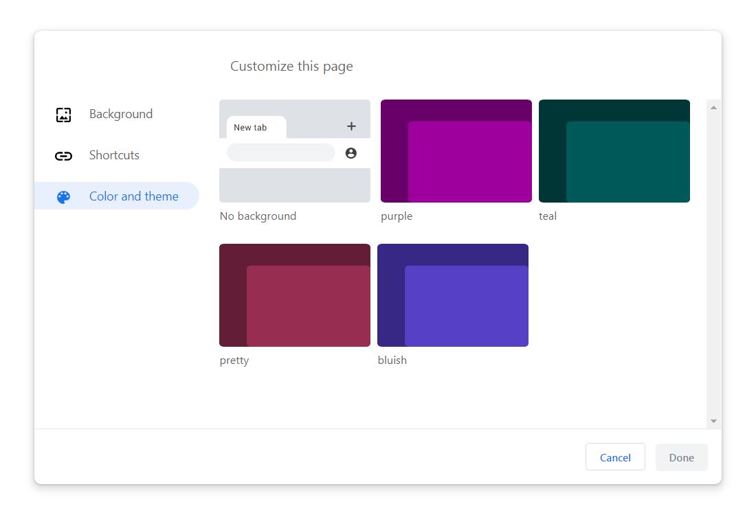 Google Chrome teme personalizare