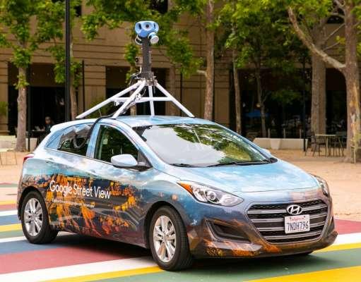 Google Maps masini